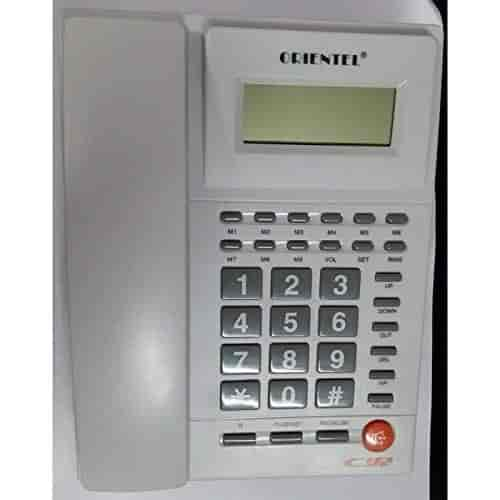 Vepson-Plastic-Orientel-KX-T1588-CID-FSK-DTMF-Caller-Id-Compatible-One-Touch-Redial-Telephone-White-3-IN