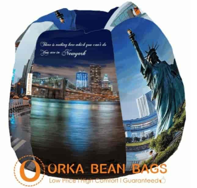 Fine Orka Digital Printed Jumbo Bean Bag Str116Per007 Machost Co Dining Chair Design Ideas Machostcouk