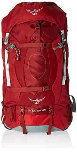 X-Small Osprey Packs Womens Ariel AG 55 Backpack Picante Red