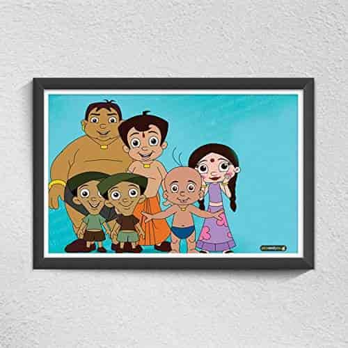 buy pics and you chhota bheem cartoon themed 21 300gsm paper poster