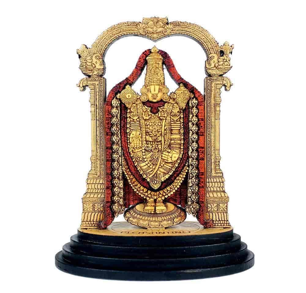 Buy Pleasantino Car Dashboard Desktop Statue Hindu God Lord Venkateswara Balaji Wood Carved Figurine Size 3 25 Features Price Reviews Online In India Justdial