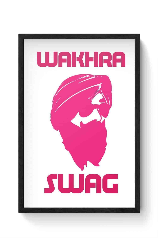 PosterGuy-Wakhra-Swag-Wakhra-Swag-Singh-Sardar-Punjabi-Turban-King-Mustache-Sunglass-Turban-Laminated-Framed-Poster
