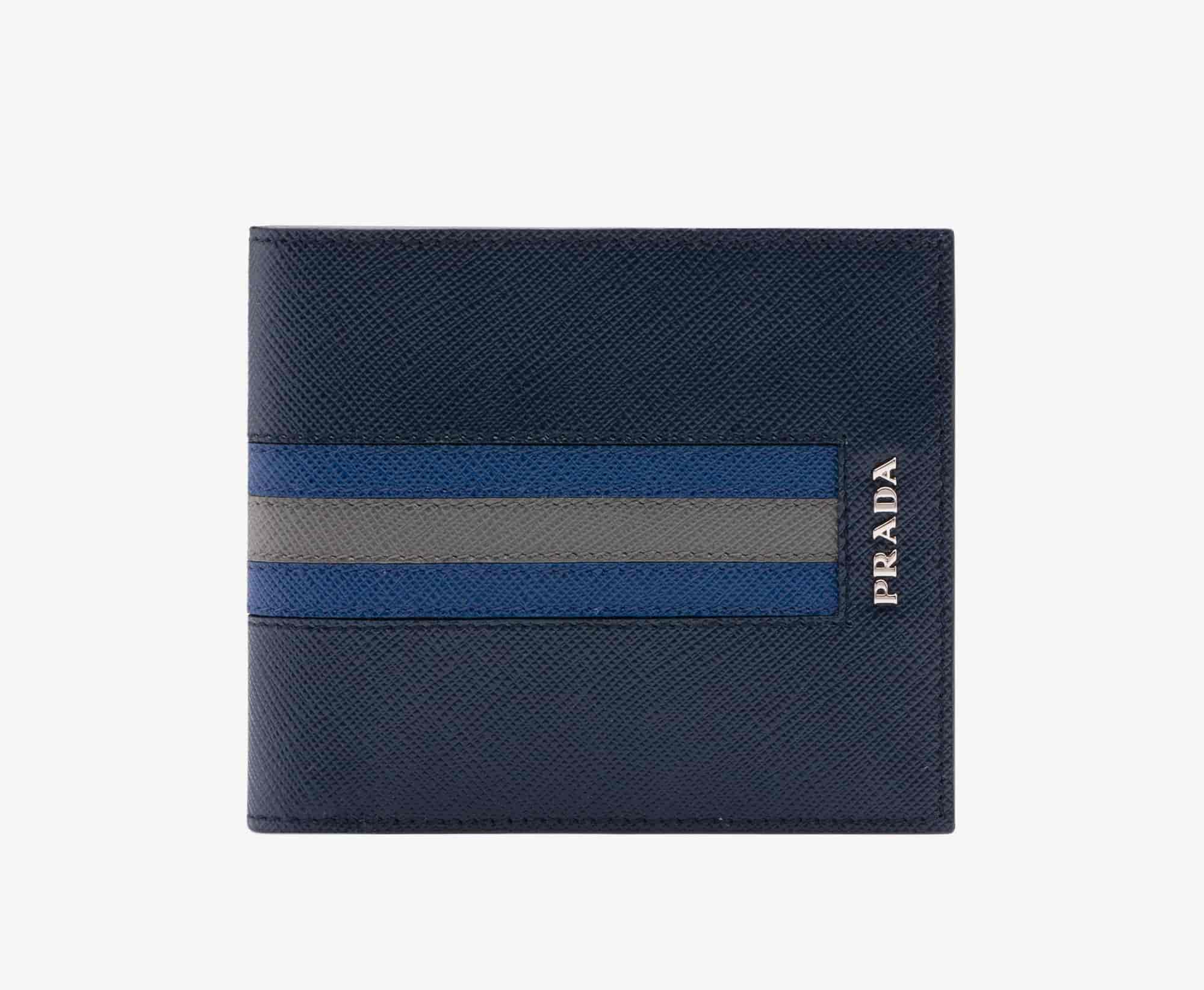 Prada Wallet Men Blue