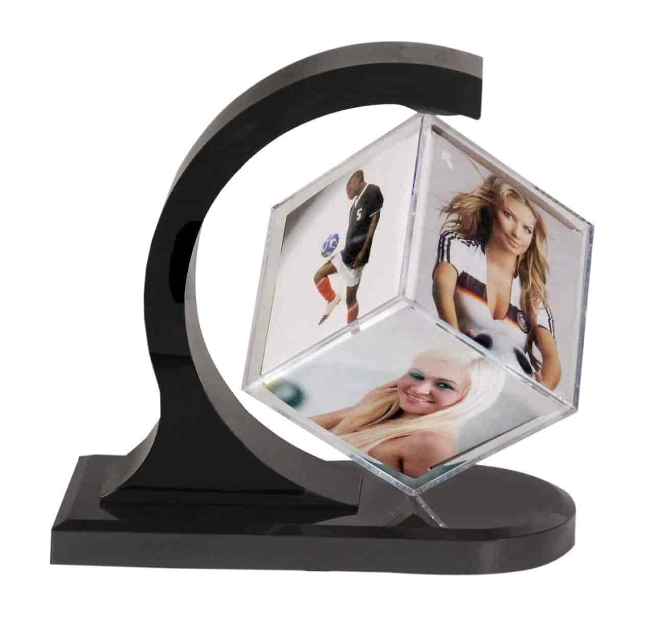 Buy Pragati Pro magic cube rotating photo frame(6x6cm cube ...