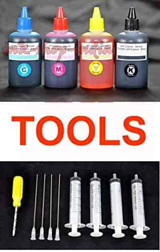 Ink-Shop-India-Refill-Ink-Bottles-Kit-with-Tools-for-HP-and-Canon-Inkjet-printers
