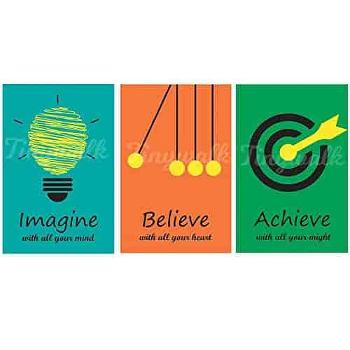 Buy Printed Wall Poster Imagine Believe And Achieve Enchanting Exide Motivational Quotes