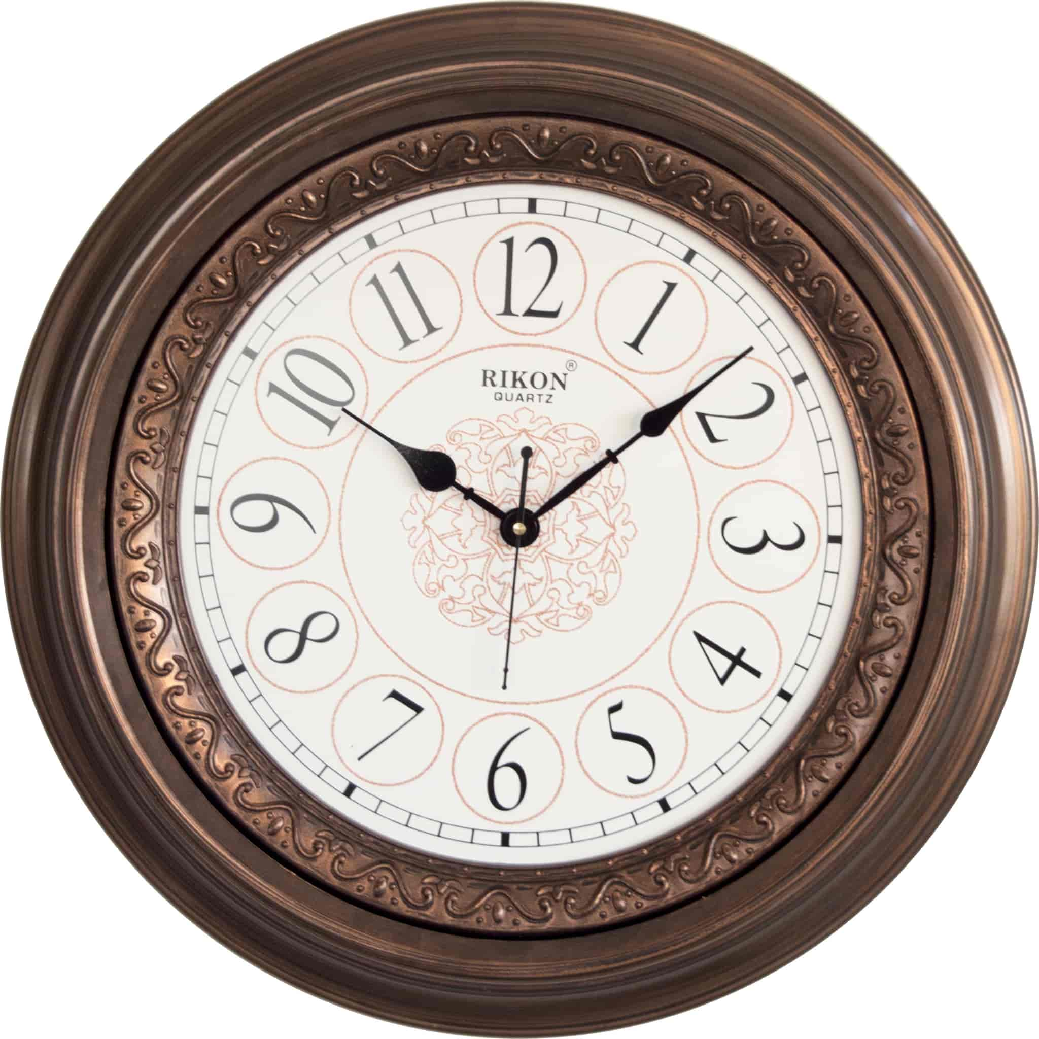 Buy Rikon 1508 White Copper Antique Wall Clock Features Price