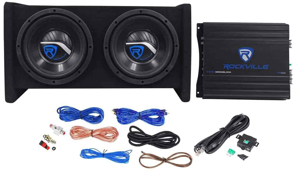 Buy Rockville Rv82a Single 8 800 Watts Peak 250 Rms Bass Wiring Kits For Car Amps Enclosure System