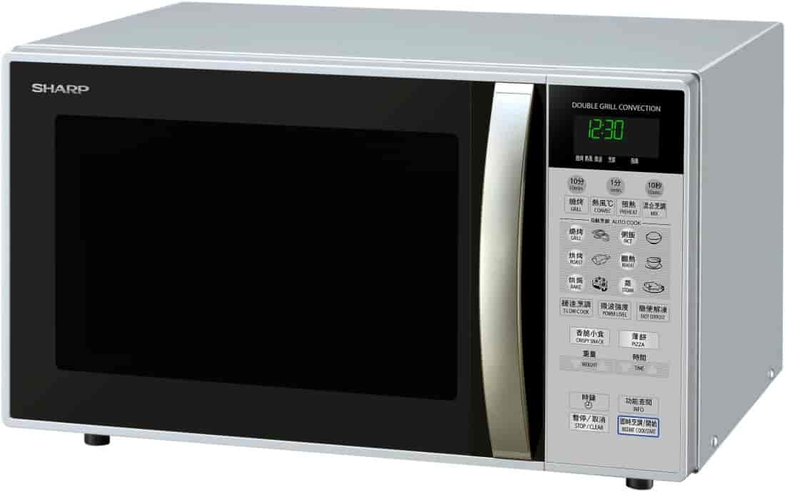 Sharp 26 Litre Convection Microwave Oven Silver R 898r S