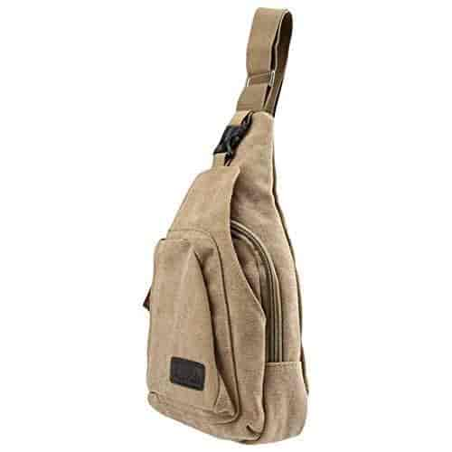 Buy SlickBlue Casual Canvas Backpack Crossbody Sling Bag Shoulder Bag Chest  Bag For Men Khaki Medium, Features, Price, Reviews Online in India -  Justdial 0a6777c2a0