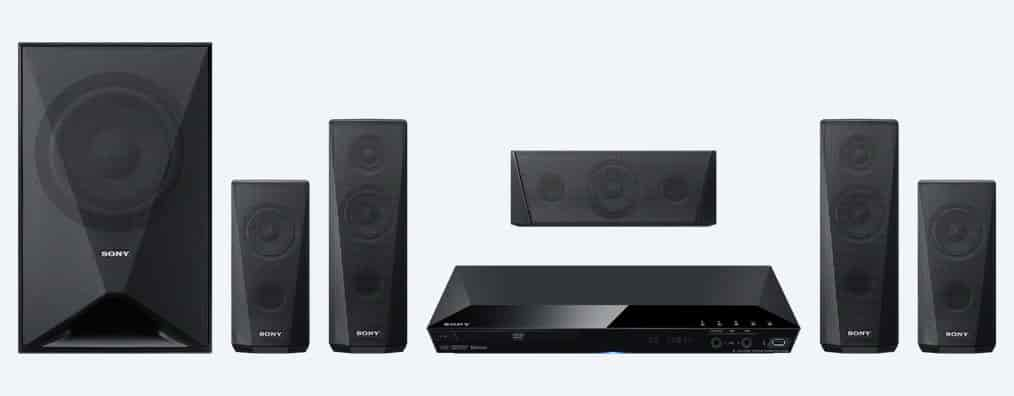 sony home theater system. sony 5.1ch dav-dz350 dvd home theatre system with bluetooth theater