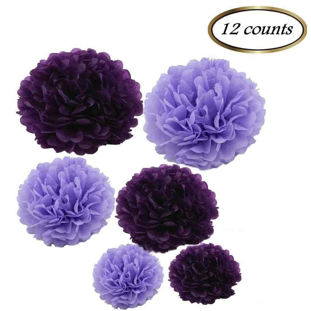 Buy Sorive 12pcs Mixed Sizes 8 10 14 Premium Tissue Paper Pom