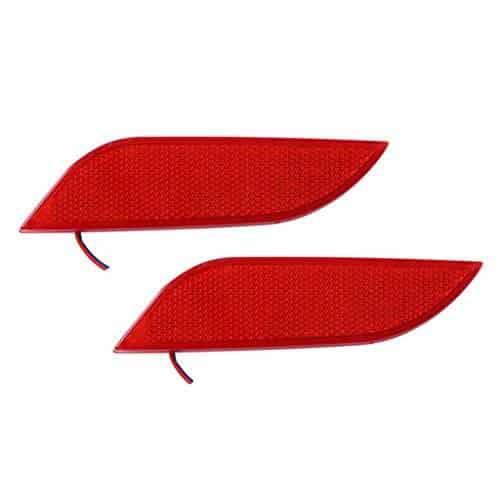 Buy Speedwav Car Rear Bumper Reflector Red Lights Set of 2