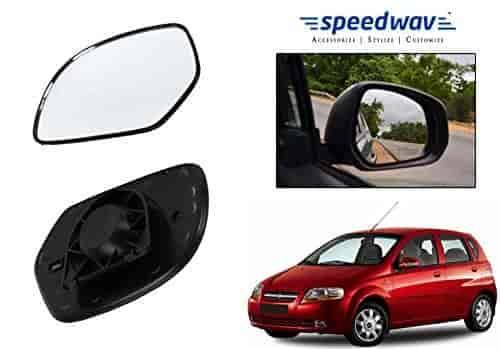 Buy Speedwav Car Rear View Side Mirror Glass Left Chevrolet Aveo Uva
