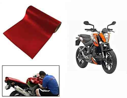 Buy Speedwav MATT RED 3 Meter Bike Wrap Sheet-KTM Duke 200