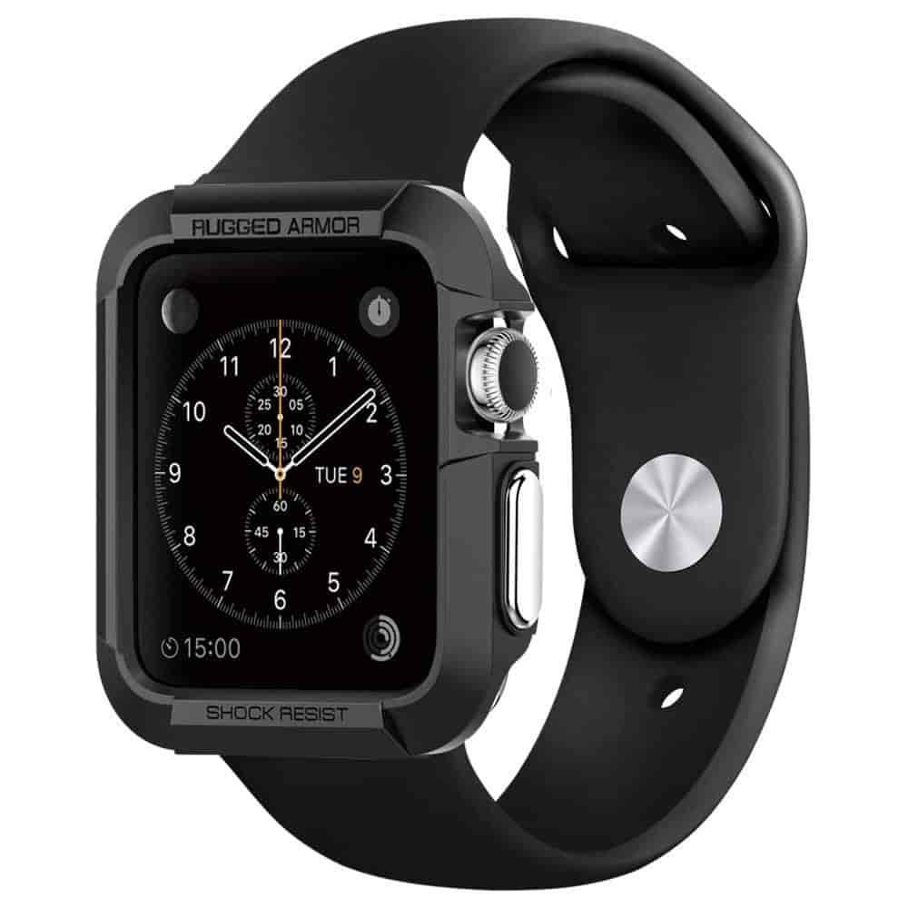 Spigen Sgp11496 Rugged Armor Apple Watch Case For 42mm Apple Watch Series 3 2 1 Black