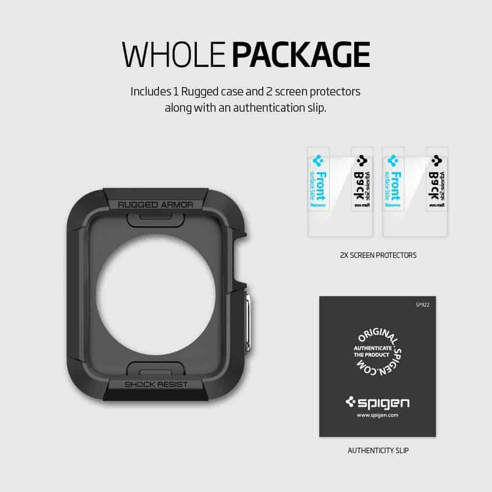 Buy Spigen Sgp11496 Rugged Armor Case For Apple Watch Series 1 Tough 2 42mm 3 Silver