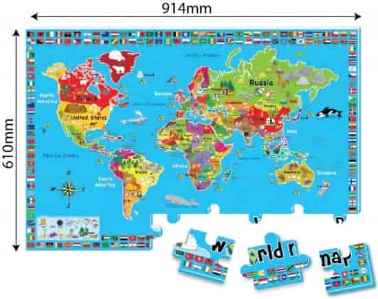 Buy sun ta 48pcs heat transferred printed jigsaw puzzle world map sun ta 48pcs heat transferred printed jigsaw puzzle world map st 3287 gumiabroncs Choice Image