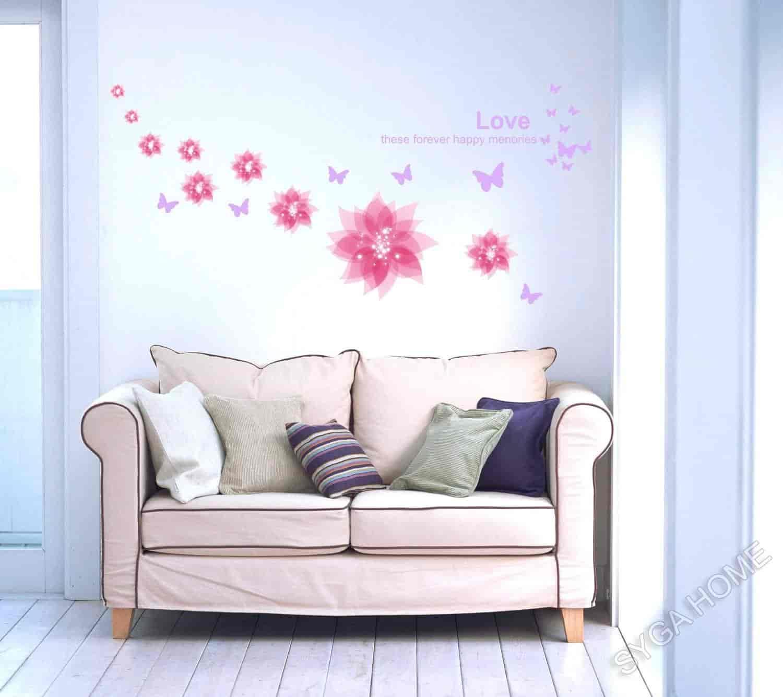 Syga Beautiful Decent Color Peaceful Wall Sticker Pvc Vinyl 50 Cm X 5 Cm X 5 Cm 932p