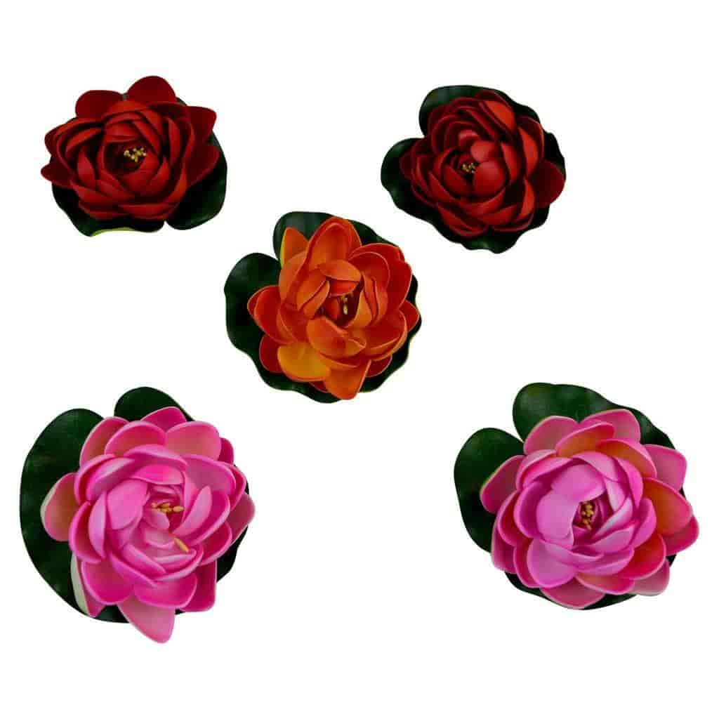 Buy Thefancymart Decorative Water Floating Lotus Flowers Set Of 5