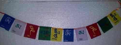 Buy Tibetan buddhist prayer flag, Multicolor tibetan