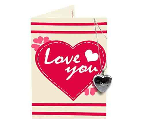 Buy Tied Ribbons Love You Greeting Card And Locket Combo For Husband