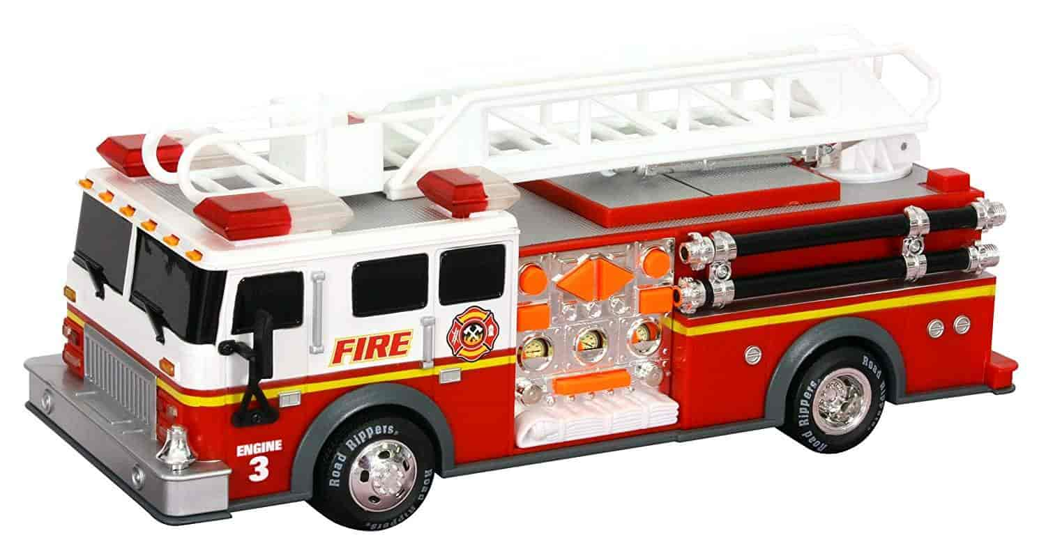 Toy-State-14-Rush-And-Rescue-Police-And-Fire-Hook-And-Ladder-Fire-Truck