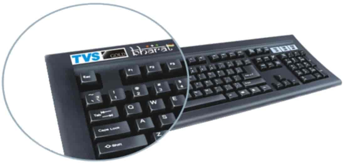 Buy Tvs E Bharat Gold Bilingual Computer Keyboard Black Features