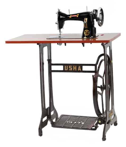 Usha Champion With Stand And Table Sewing Machine Black