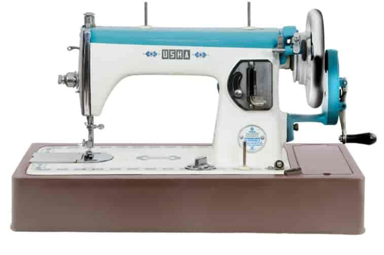 Buy Usha Streamlined Sewing Machine White And Blue Features Price Extraordinary Usha Sewing Machine Customer Care Bangalore
