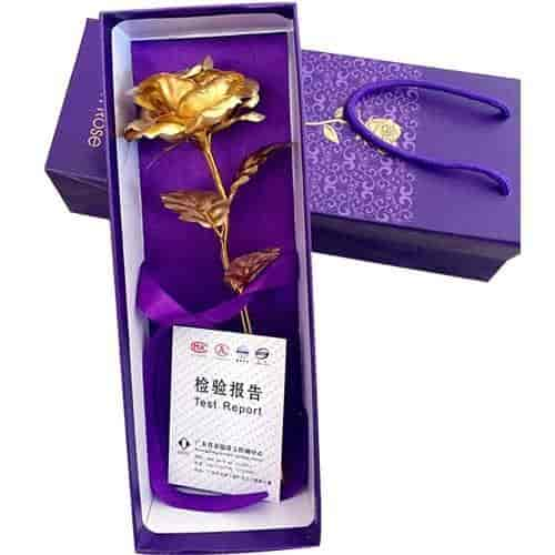 Buy Valentine Gift 24k Gold Rose 10 With Beautiful Gift Box And