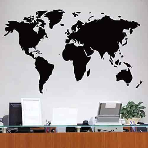 Buy world map wall sticker medium size features price reviews world map wall sticker medium size gumiabroncs Gallery