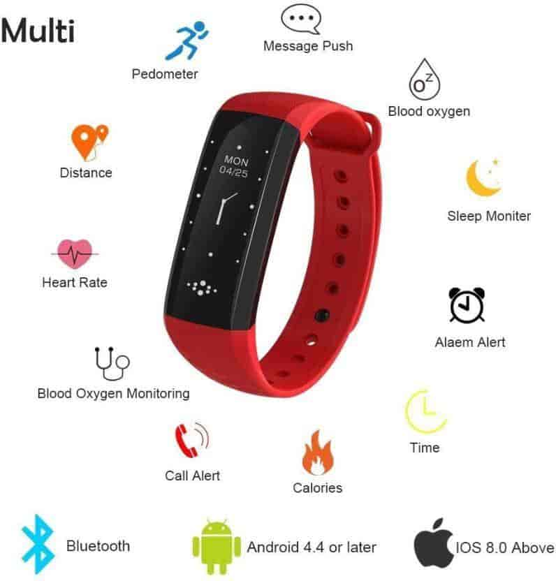 WEARFIT-Fitness-Tracker-Bluetooth-Smart-Watch-Heart-Rate-Monitor-Smart-Bracelet-Waterproof-Pedometer-Sport-Activity-Tracker-for-Android-iOS-Fitness-Ba