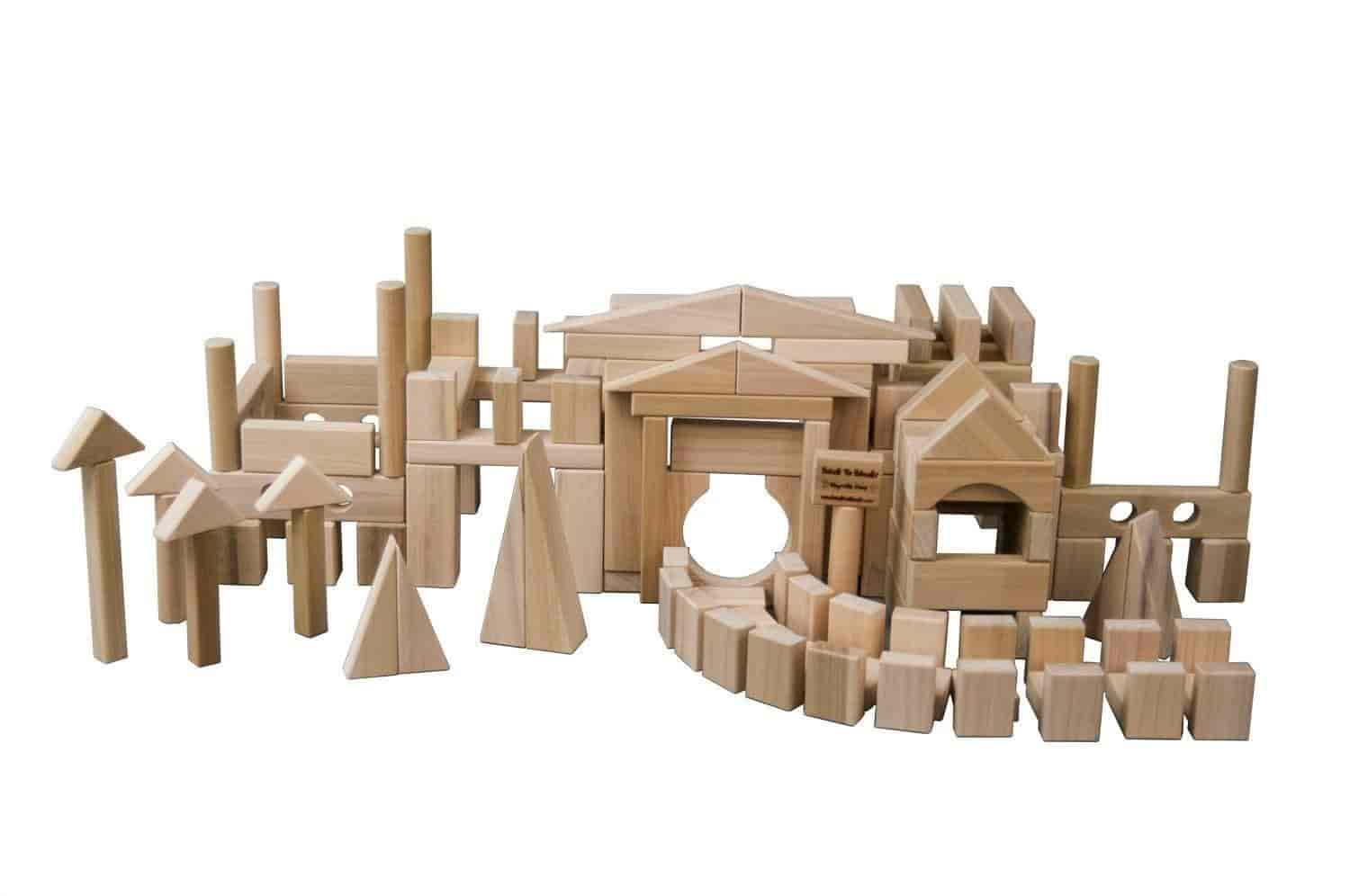 Exceptionnel Wooden Blocks Super Stacker Large Wooden Block Set 200 Wooden Building  Blocks For Kids In A