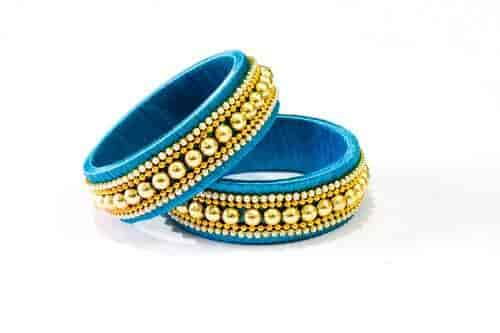 Yellow Gold Silk Thread Bangles At Best Price Yellow Gold Silk Thread Bangles By Myangadi In Coimbatore Justdial