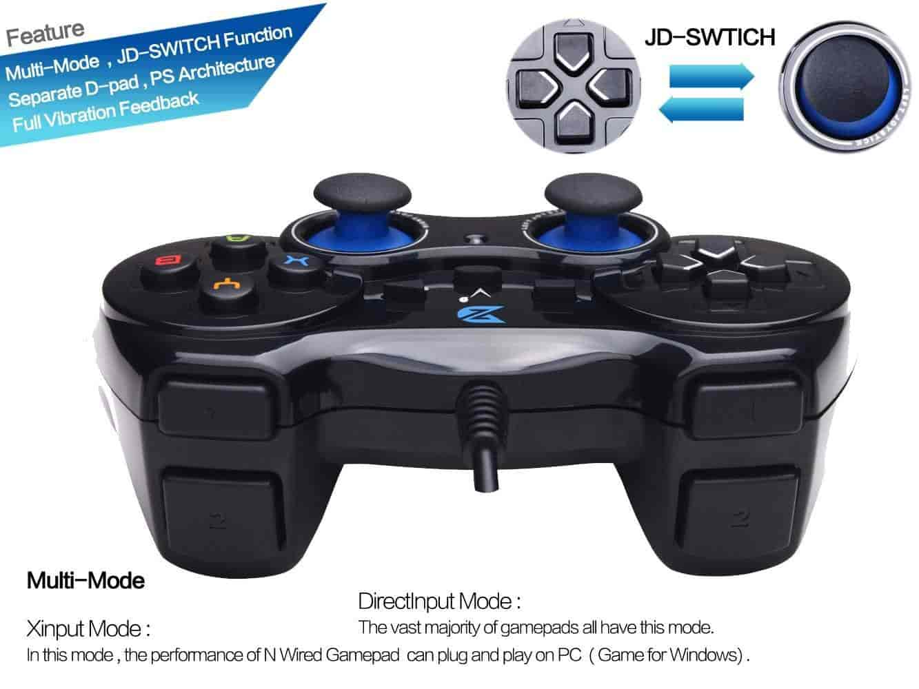 Buy Zhidong V Full Vibration Feedback USB Wired Controller Gamepad ...