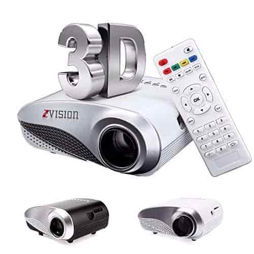 Buy Zvision Hd Mini Portable Led Projector 20 100 Tv Dvd Pc With